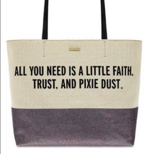 Peter Pan Canvas Glitter Tote by kate spade
